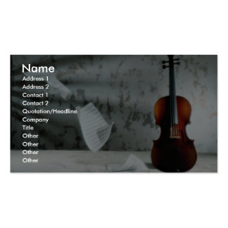 Violin with music sheets floating Double-Sided standard business cards (Pack of 100)