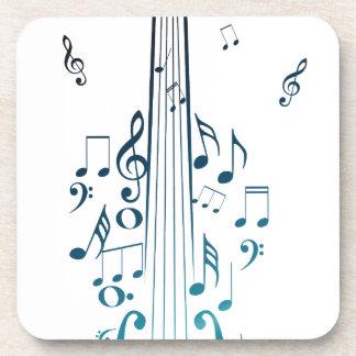 Violin with Notes 5 Beverage Coaster