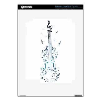 Violin with Notes 5 iPad 3 Skin