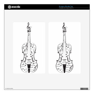 Violin with Notes 6 Kindle Fire Decal