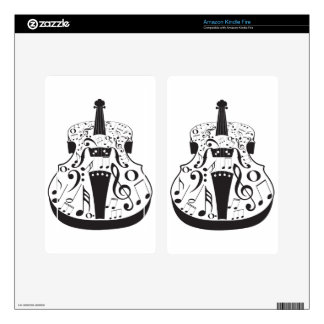 Violin with Notes Kindle Fire Decal