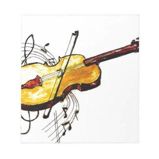 Violin with Notes Sketch