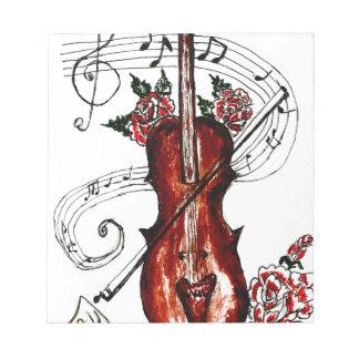 Violin with Notes Sketch 2