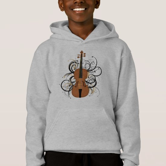 Violin with Swirls Hoodie
