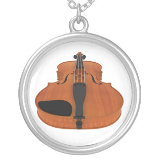 Violin with Traditional Wood Finish: Necklace