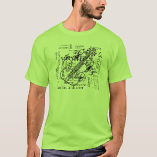 violin with words T-Shirt