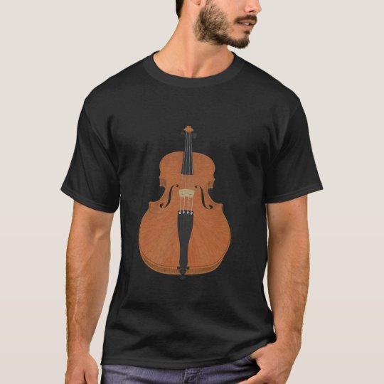 Violin: Wood Violin: 3d Model Angle #3: Music T-Shirt