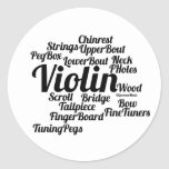 Violin Word Cloud Black Text Stickers