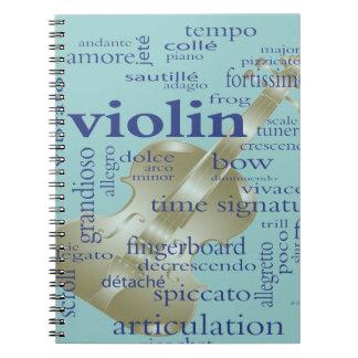 Violin Words Note Book