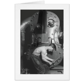 Violin Works Greeting Card