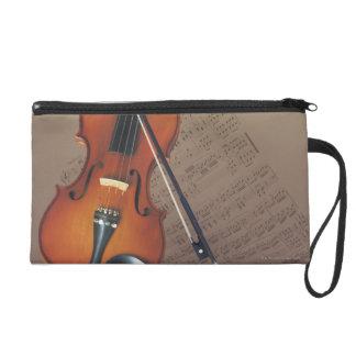 Violin Wristlet Purse