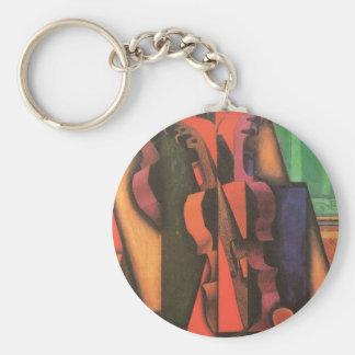 Violín y guitarra de Juan Gris, arte del cubismo Llavero Redondo Tipo Pin