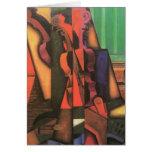 Violín y guitarra de Juan Gris, arte del cubismo Tarjeta De Felicitación