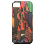 Violín y guitarra de Juan Gris, cubismo del vintag iPhone 5 Funda