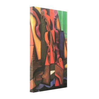 Violín y guitarra de Juan Gris cubismo del vintag Lienzo Envuelto Para Galerías