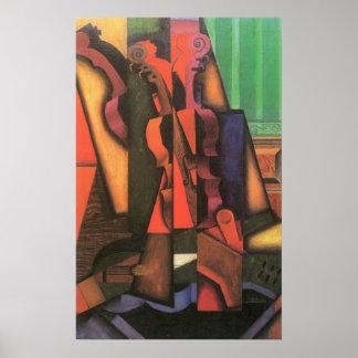 Violín y guitarra de Juan Gris, cubismo del vintag Impresiones