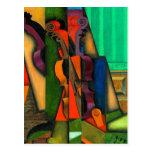 Violín y guitarra de Juan Gris Tarjetas Postales