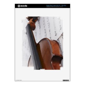 Violín y partitura iPad 3 skins