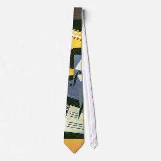Violín y vidrio de Juan Gris, cubismo del vintage Corbata