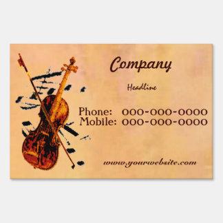 Violin Yard Sign