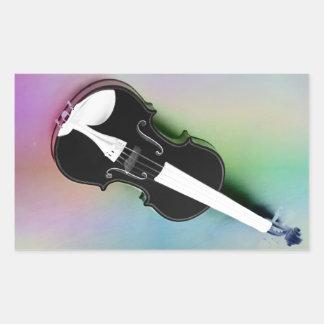 Violine phtographed por Tutti Pegatina Rectangular