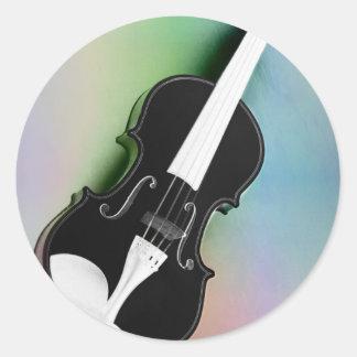 Violine phtographed por Tutti Pegatina Redonda