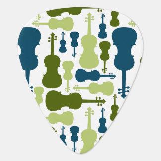 Violines - azules y modelo verde plectro