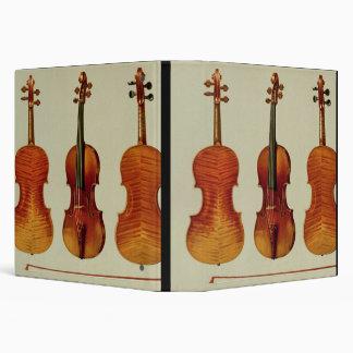 "Violines (LtoR): el ""Alard"" por Antonio Carpeta 1 1/2"""