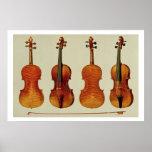 """Violines (LtoR): el """"Alard"""" por Antonio Stradivari Póster"""
