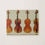 """Violines (LtoR): el """"Alard"""" por Antonio Stradivari Puzzles"""