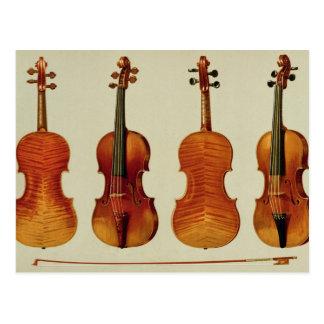 """Violines (LtoR): el """"Alard"""" por Antonio Stradivari Tarjeta Postal"""