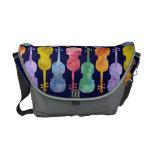 Violines multicolores bolsa de mensajeria
