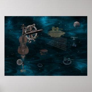 Violines que vuelan identificados posters