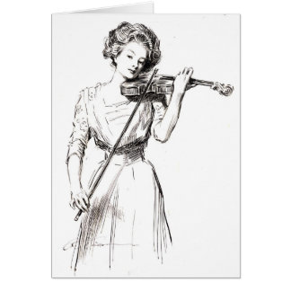 Violinist 1910 card