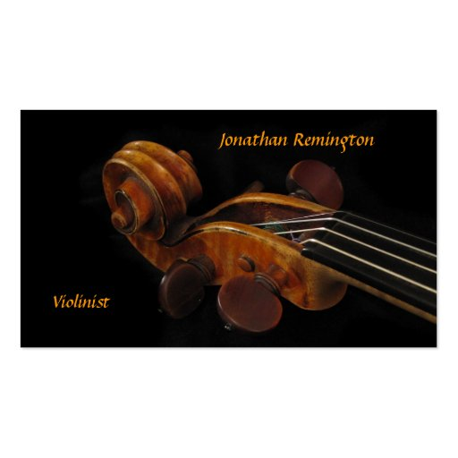 Violinist Business Card Templates