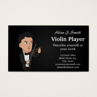 Violinist cartoon business card