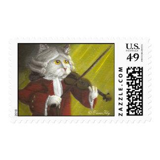 Violinist Cat postage