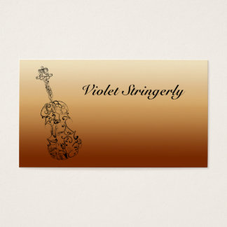 Violinist Contact Information Business Card