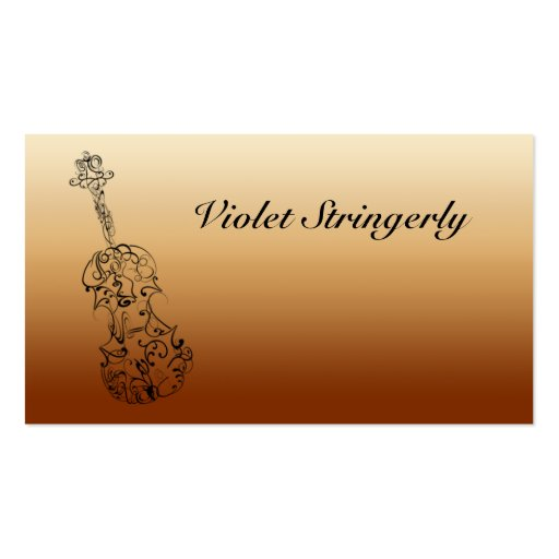 Violinist Contact Information Business Card Template