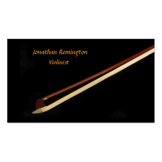 Violinist Double-Sided Standard Business Cards (Pack Of 100)