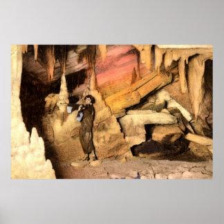 Violinist Endless Caverns Virginia Vintage 1928 Poster