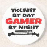 Violinist Gamer Beverage Coaster