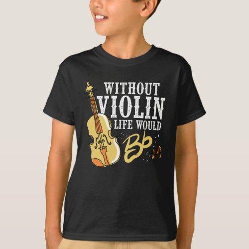 Violinist Gift Idea for Musician Violin Instrument T_Shirt