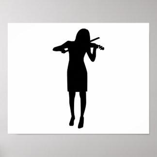 Violinist girl woman print
