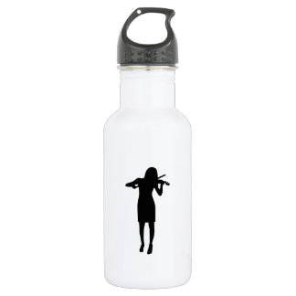 Violinist girl woman stainless steel water bottle