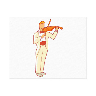 Violinist Male Figure Abstract.png Canvas Print