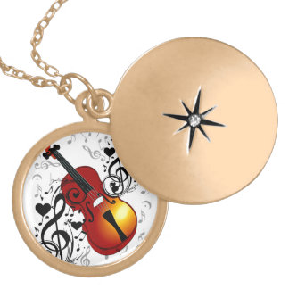Violinist,Rock the House_ Custom Necklace