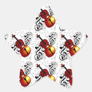 Violinist,Rock the House_ Star Sticker