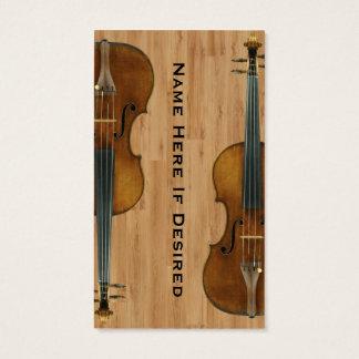 Violinist Violist Instrument Image Business Card