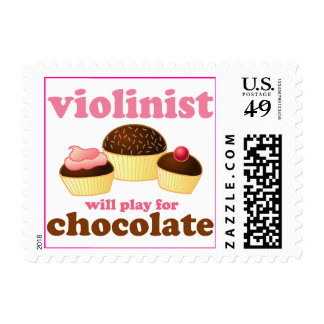 Violinist will Play for Chocolate Postage